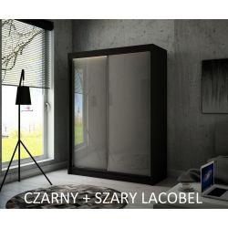 Szafa Pik z drzwiami przesuwnymi, 150 cm szerokość. Oświetlenie LED.