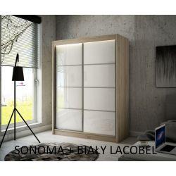 Szafa Pik z drzwiami przesuwnymi, 200 cm szerokość. Bez oświetlenia LED.
