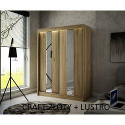 Szafa Luna z drzwiami przesuwnymi, 120 cm szerokość. Oświetlenie LED.