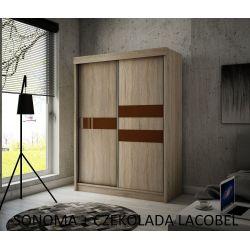 Szafa z drzwiami przesuwnymi Ara, szerokość 120 cm, bez oświetlenia LED.