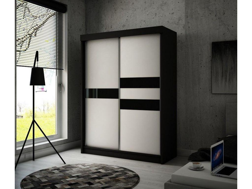 Szafa z drzwiami przesuwnymi Ara, szerokość 200 cm, bez oświetlenia LED.