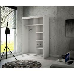 Szafa z drzwiami przesuwnymi Viola, szerokość 120 cm, bez oświetlenia LED.