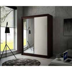 Szafa z drzwiami przesuwnymi Viola, szerokość 120 cm, oświetlenie LED.