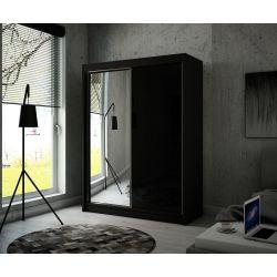 Szafa z drzwiami przesuwnymi Viola, szerokość 150 cm, bez oświetlenia LED.