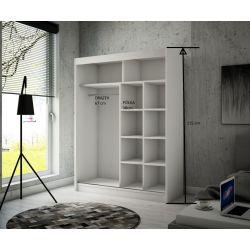 Szafa z drzwiami przesuwnymi Viola, szerokość 150 cm, oświetlenie LED.
