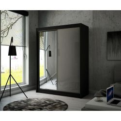 Szafa z drzwiami przesuwnymi Viola, szerokość 200 cm, bez oświetlenia LED.