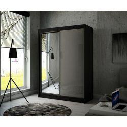 Szafa z drzwiami przesuwnymi Viola, szerokość 200 cm, oświetlenie LED.