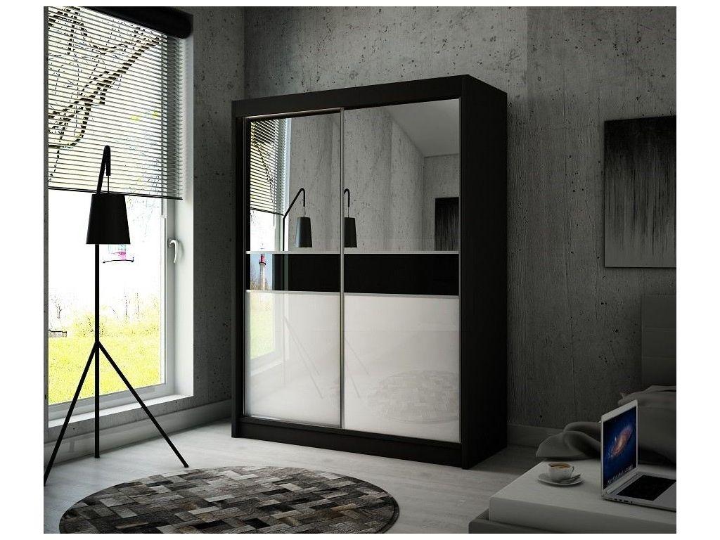 Szafa z drzwiami przesuwnymi Tina, szerokość 120 cm. Oświetlenie LED.