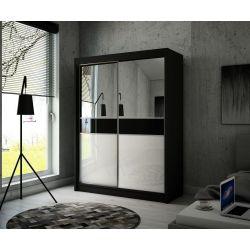 Szafa z drzwiami przesuwnymi Tina, szerokość 150 cm. Oświetlenie LED.