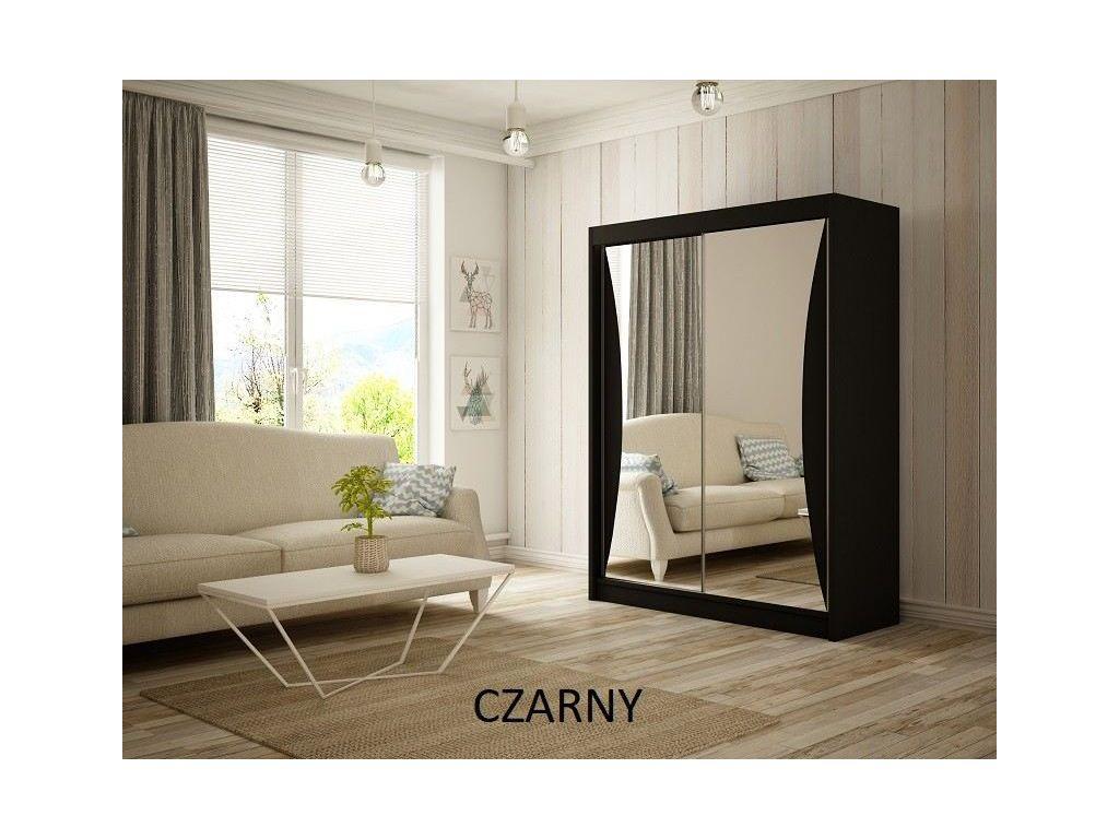 Szafa z drzwiami przesuwnymi Twist, szerokość 120 cm. Bez oświetlenia LED.