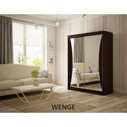 Szafa z drzwiami przesuwnymi Twist, szerokość 200 cm. Bez oświetlenia LED.