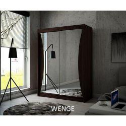 Szafa z drzwiami przesuwnymi Twist, szerokość 200 cm. Oświetlenie LED.