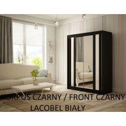 Szafa z drzwiami przesuwnymi Cama, szerokość 120 cm. Bez oświetlenia LED.