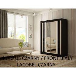 Szafa z drzwiami przesuwnymi Cama, szerokość 120 cm. Oświetlenie LED.