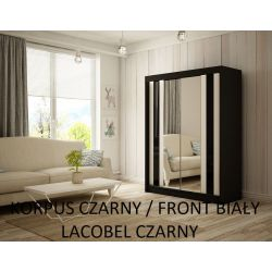 Szafa z drzwiami przesuwnymi Cama, szerokość 150 cm. Oświetlenie LED.