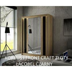 Szafa z drzwiami przesuwnymi Cama, szerokość 200 cm. Oświetlenie LED.