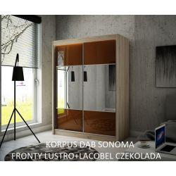 Szafa z drzwiami przesuwnymi Rino, szerokość 120 cm. Oświetlenie LED.