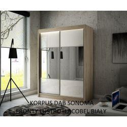 Szafa z drzwiami przesuwnymi Rino, szerokość 150 cm. Bez oświetlenia LED.