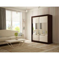 Szafa z drzwiami przesuwnymi Rino, szerokość 200 cm. Oświetlenie LED.