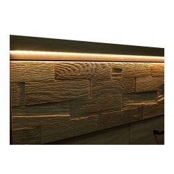 Półka M 11, system Mediolan, szerokość 120 cm.
