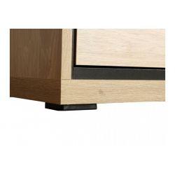 Komoda M 6, system Mediolan, 2 x szuflada, 2 x drzwi, szerokość 92,2 cm.