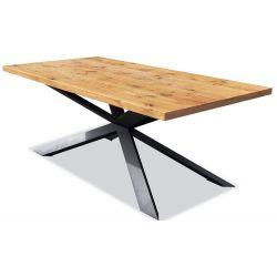 Stół S 8, blat dębowy, Wymiar 100 / 200 cm, nierozkładany.