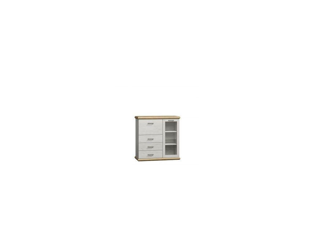 Komoda, witryna K 8, system Kora, wymiar 115 x 45 x 110 wysokość.