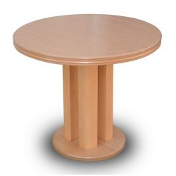 Stół S 35,okrągły, rozkładany, fi 90 / 240 cm.