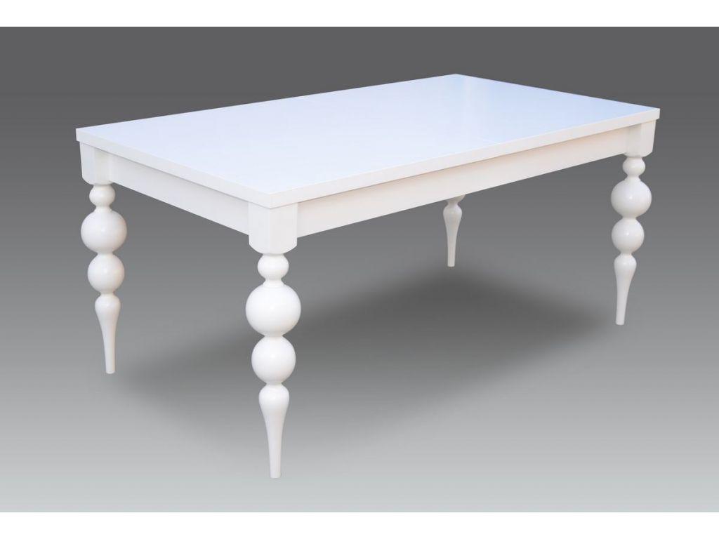 Stół S 38, rozkładany 90 x 160 x 215 cm, biały.