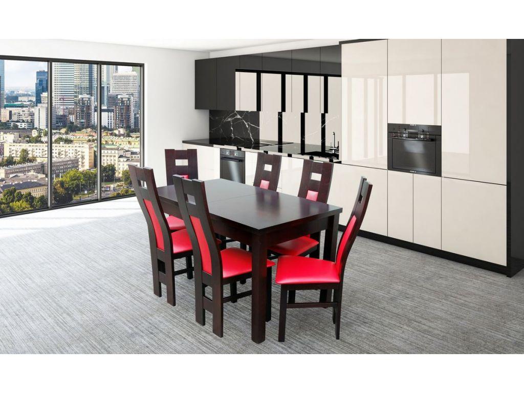 Zestaw do jadalni 6 ( stół S 18 80 x 140 x 180 + krzesło K41B x 6 szt).