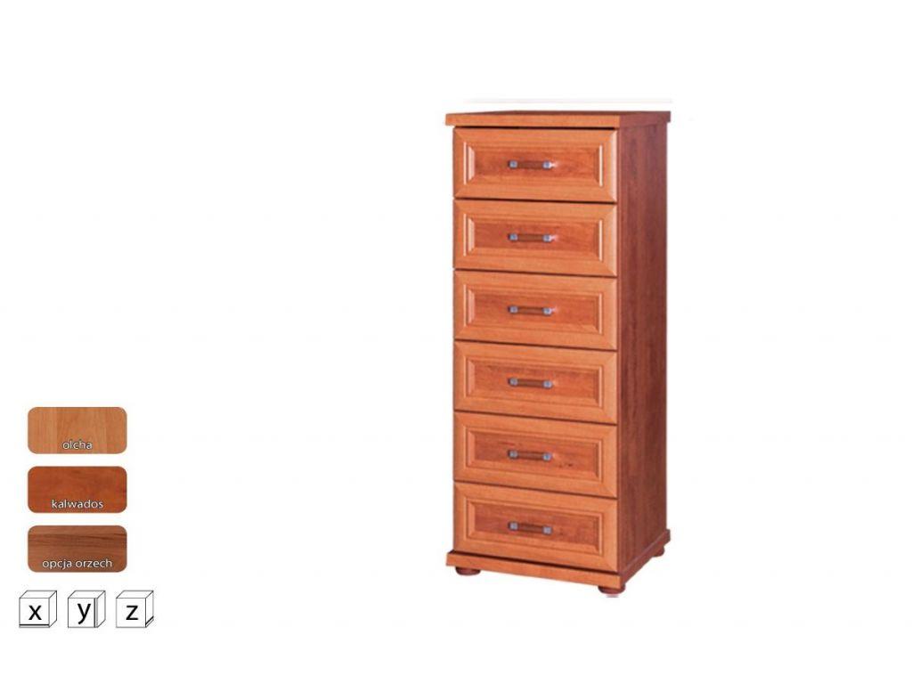 Wysoka komoda z szufladami OK 50, system Oskar, szerokość 50 cm.