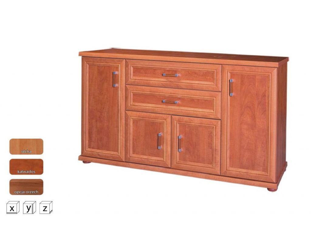 Duża komoda z drzwiczkami i szufladami OK 160, system Oskar, szerokość 160 cm.