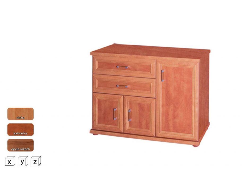 Komoda z szufladami i drzwiczkami OK 120, system Oskar, szerokość 120 cm.