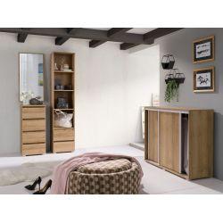 Komoda C06, system COSMO, szerokość 184 cm, 4 szuflady i 2 drzwi.