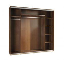 Szafa PENELOPA z drzwiami przesuwnymi i lustrem, szerokość 205 cm.