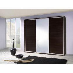 Szafa trzydrzwiowa PENELOPA z drzwiami przesuwnymi i lustrem, szerokość 255 cm.