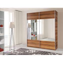 Szafa VARIO z drzwiami przesuwnymi i lustrem, szerokość 175 cm.