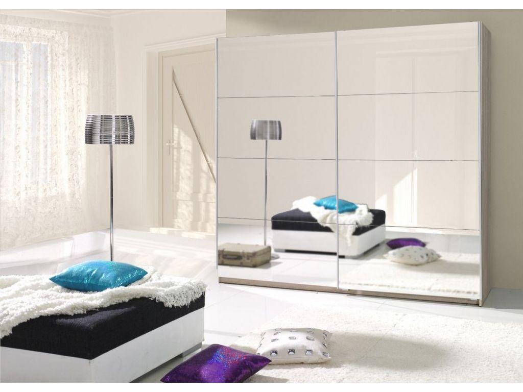 Szafa TWISTER 1 z drzwiami przesuwnymi i lustrem, szerokość 225 cm.