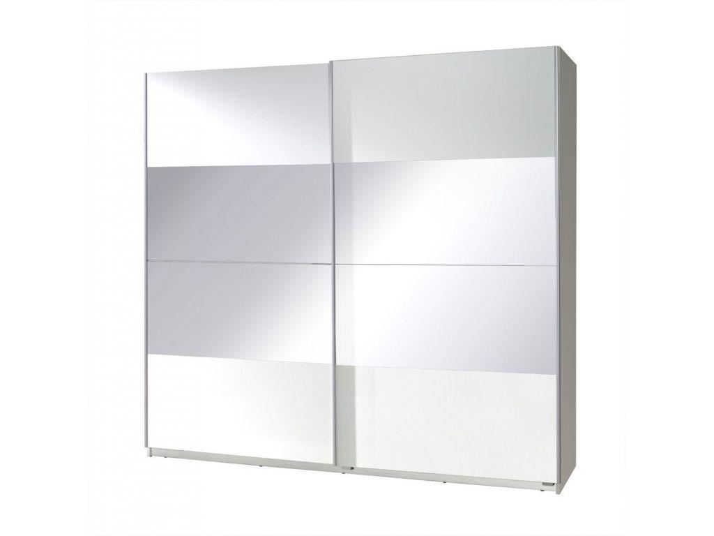 Szafa TWISTER 2 z drzwiami przesuwnymi i lustrem, szerokość 225 cm.