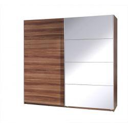 Szafa TWISTER 3 z drzwiami przesuwnymi i lustrem, szerokość 225 cm.