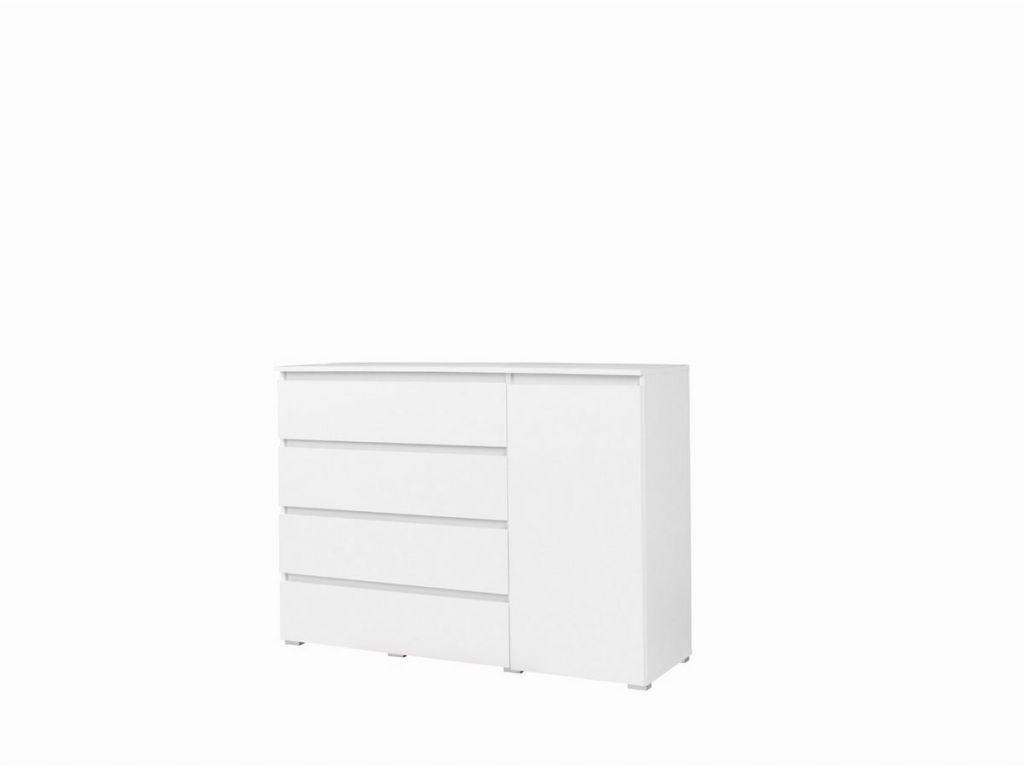 Duża komoda C05, system COSMO, 4 szuflady i drzwi, szerokość 138 cm.