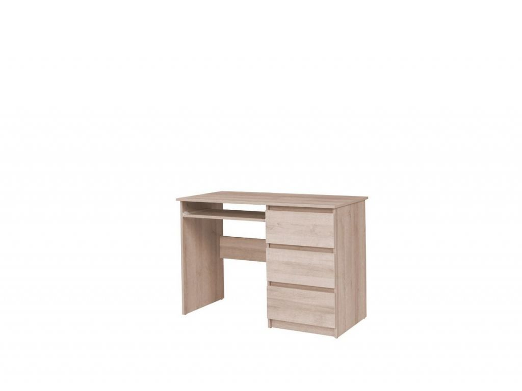 Biurko C09, system COSMO, 4 szuflady i półka na klawiaturę, szerokość 110 cm.