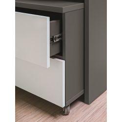 Regał średni Z09, system ZONDA, drzwi przesuwne, szerokość 120 cm.