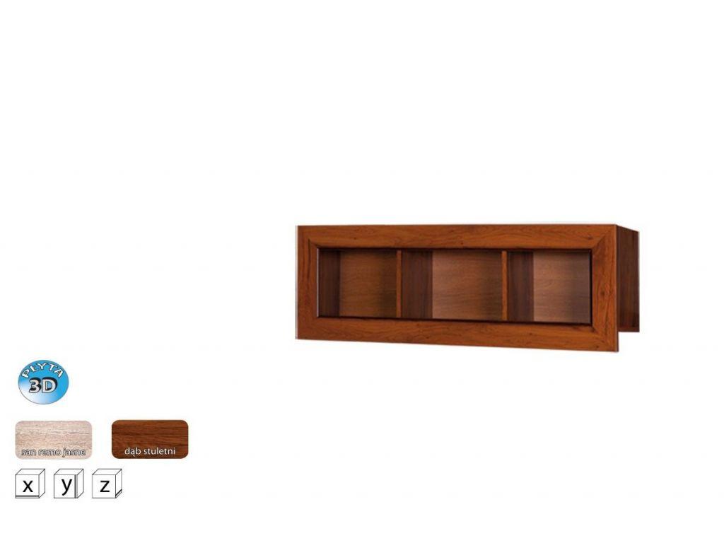 Półka wisząca TP 120, system TYTAN, szerokość 120 cm.