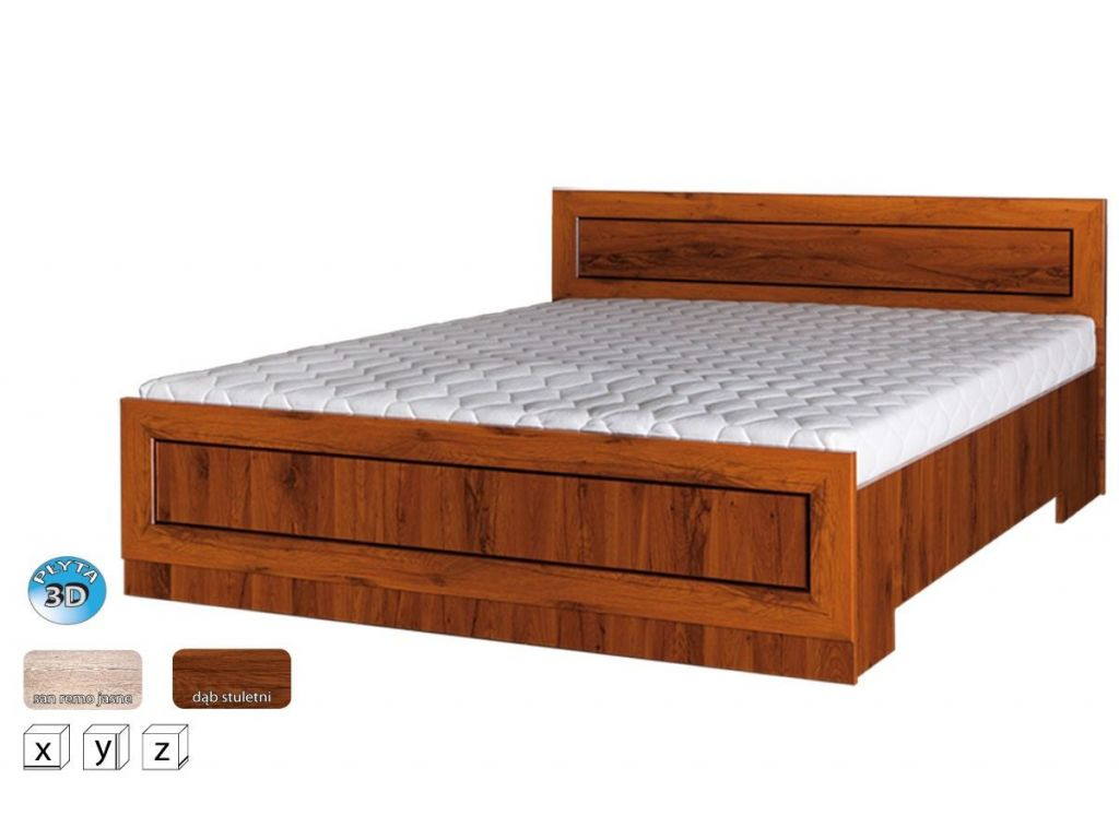 Łóżko TŁÓ 160 x 200 cm powierzchnia spania, system TYTAN.