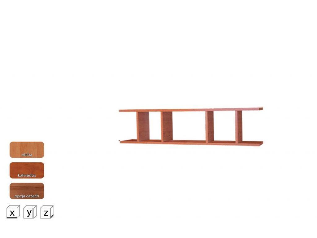 Półka wisząca OP 100, system OSKAR, szerokość 100 cm.