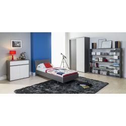 Łóżko z pojemnikiem Z22, system ZONDA, 80 x 200 cm powierzchnia spania.