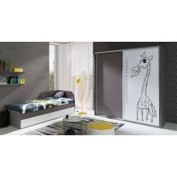 Łóżko z szufladami Z22, system ZONDA, 80 x 200 cm powierzchnia spania.