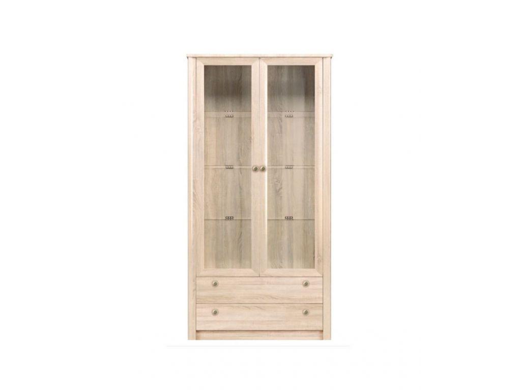 Witryna 2-drzwiowa z oświetleniem LED F 22, system FINEZJA, szerokość 110 cm.