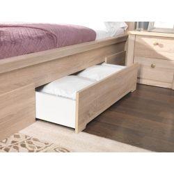 Łóżko z szufladami F 10, system Finezja, powierzchnia spania 140 x 200 cm.